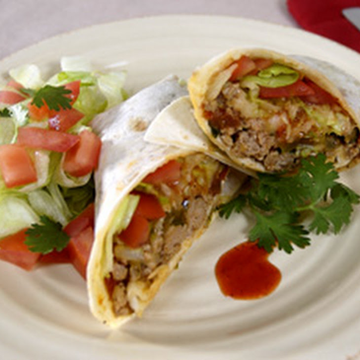 Turkey Chili Burritos
