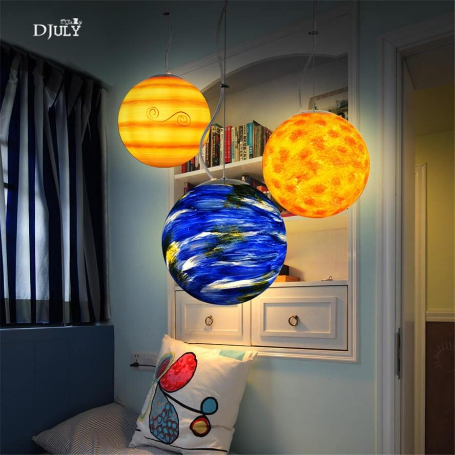Globe Pendant Light for Kid's Bedroom