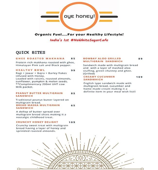 Oye Honey menu 7