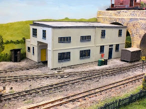 Photo: 014 The paint/workshop and office building was built using components from an Airfix RAF control tower kit .