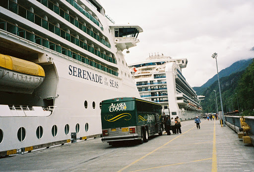 Our cruise ship for the week, the Serenade of the Seas.