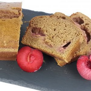 Cardamom Cake with Red Plums.
