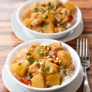 Slow Cooker Pineapple Chicken Curry.