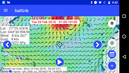 Marine Weather | SailGrib Free- screenshot thumbnail