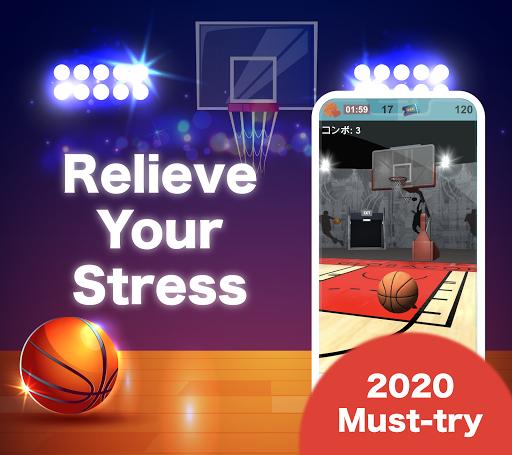 Télécharger (JAPAN ONLY) Shooting the Ball - Basketball Game APK MOD (Astuce) screenshots 2