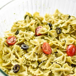 Incredibly Easy Pesto Pasta Salad.