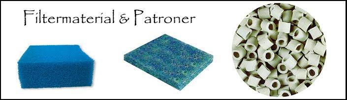 Filtermaterial & Patroner