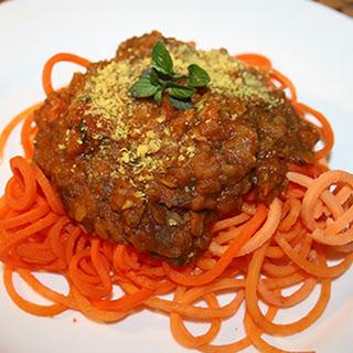 Lentil Bolognese with Sweet Potato Noodles