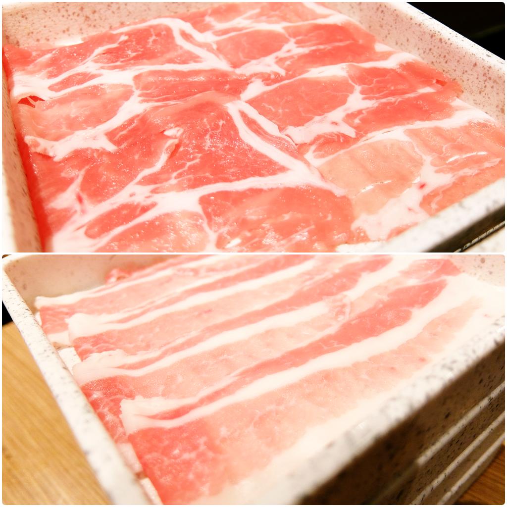 上面是梅花豬肉,下方是五花豬肉,二種肉質都頗軟的