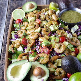 Shrimp and Avocado Salad with Cilantro Dressing