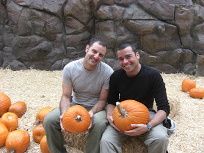 Photo: Stephen and Jaume with pumpkins