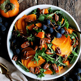 Persimmon & Arugula Salad with Maple Mustard Vinaigrette Recipe