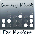 BinaryKlock for Kustom icon