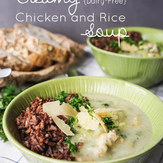 Creamy Chicken and Rice Soup {Dairy-Free}