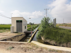 Photo: Pumping station for rice field irrigation channels Deltebre