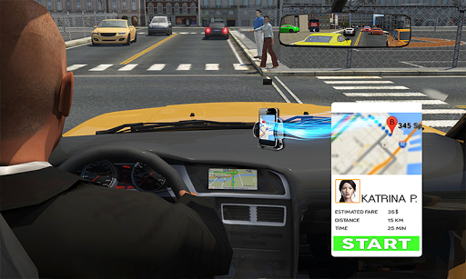 Rush Hour Taxi Cab Driver: NY City Cab Taxi Game 1.4 screenshots 2