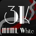 3K MNML White - Icon Pack icon