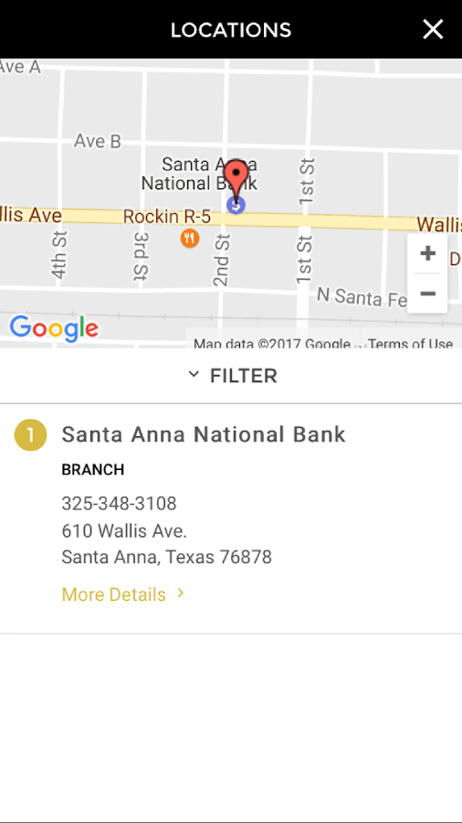 The Santa Anna National Bank- screenshot