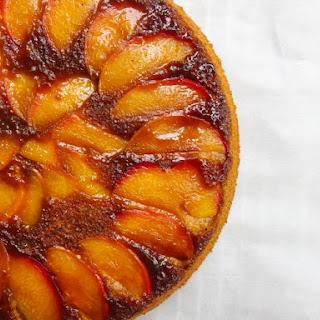 Vegan Nectarine Upside-Down Cake.