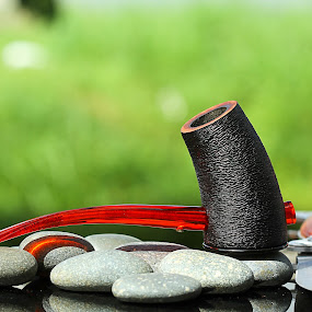 pipe for smoking by Ismed  Hasibuan  - Products & Objects Industrial Objects ( life, style, smoking, tobacco, object, pipe )