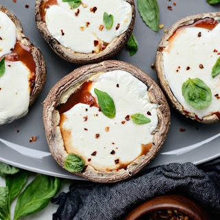Roasted Caprese Portobello Mushrooms.