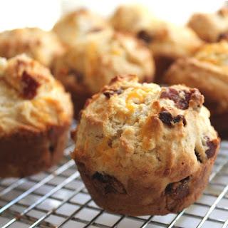 Savory Bacon Cheddar Muffins.