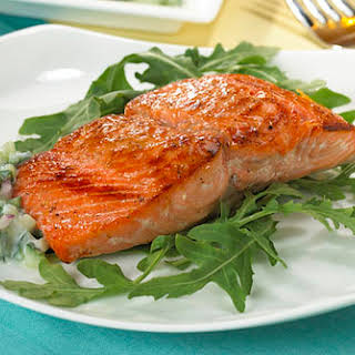 Honey Spice Rubbed Salmon.
