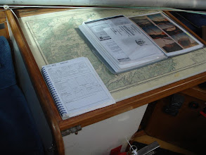 Photo: Our MSA Operations Manual for the vessel, its over 80 pages!, to the left is our ships log, all commercial vessels have to maintain both of these documents.