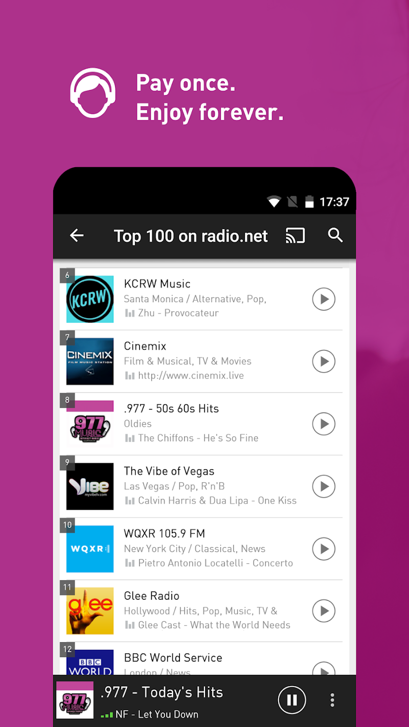 radio.net PRIME Screenshot 1