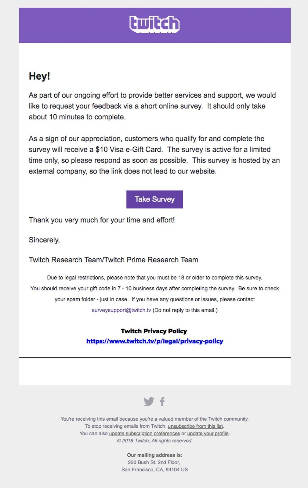 twitch email example