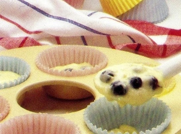 Spoon batter into aluminum-lined or paper-lined microsafe baking or cupcake pan. Don't fill more...