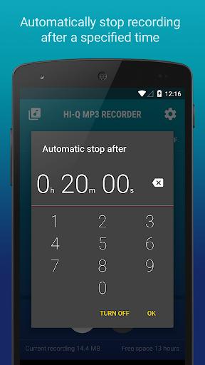 Hi-Q MP3 Voice Recorder (Free) 2.4.1 screenshots 7