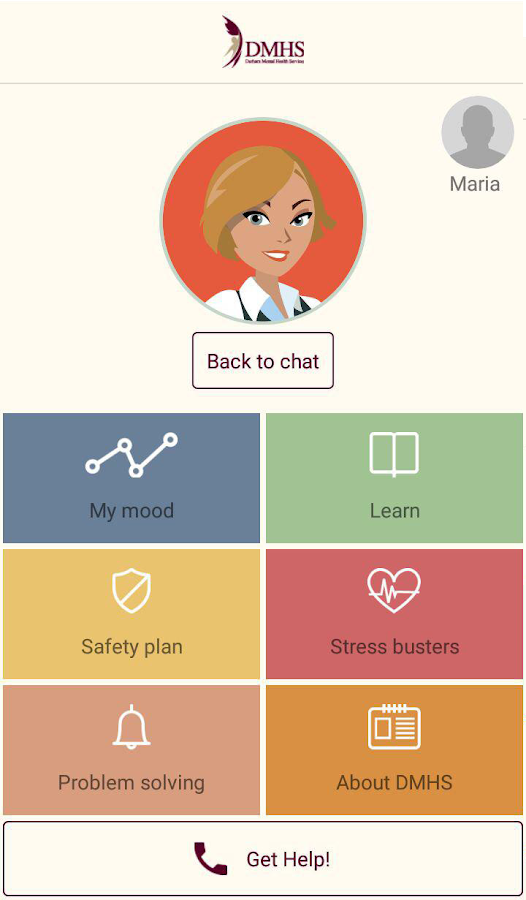 DMHS Suicide Prevention App- screenshot