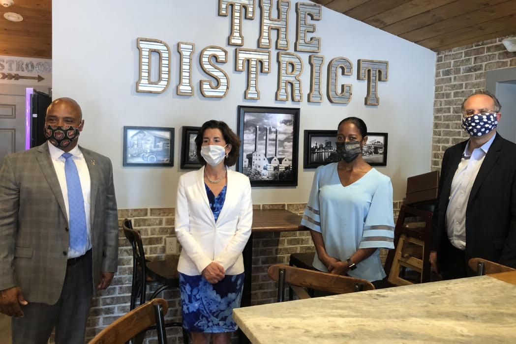Governor Gina Raimondo visits local business.