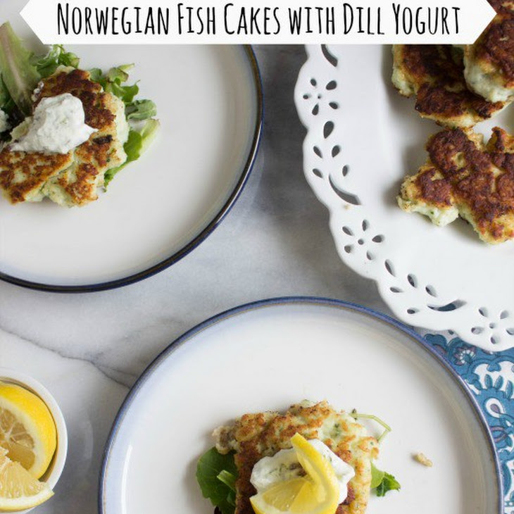 Norwegian Fish Cakes with Dill Yogurt Recipe