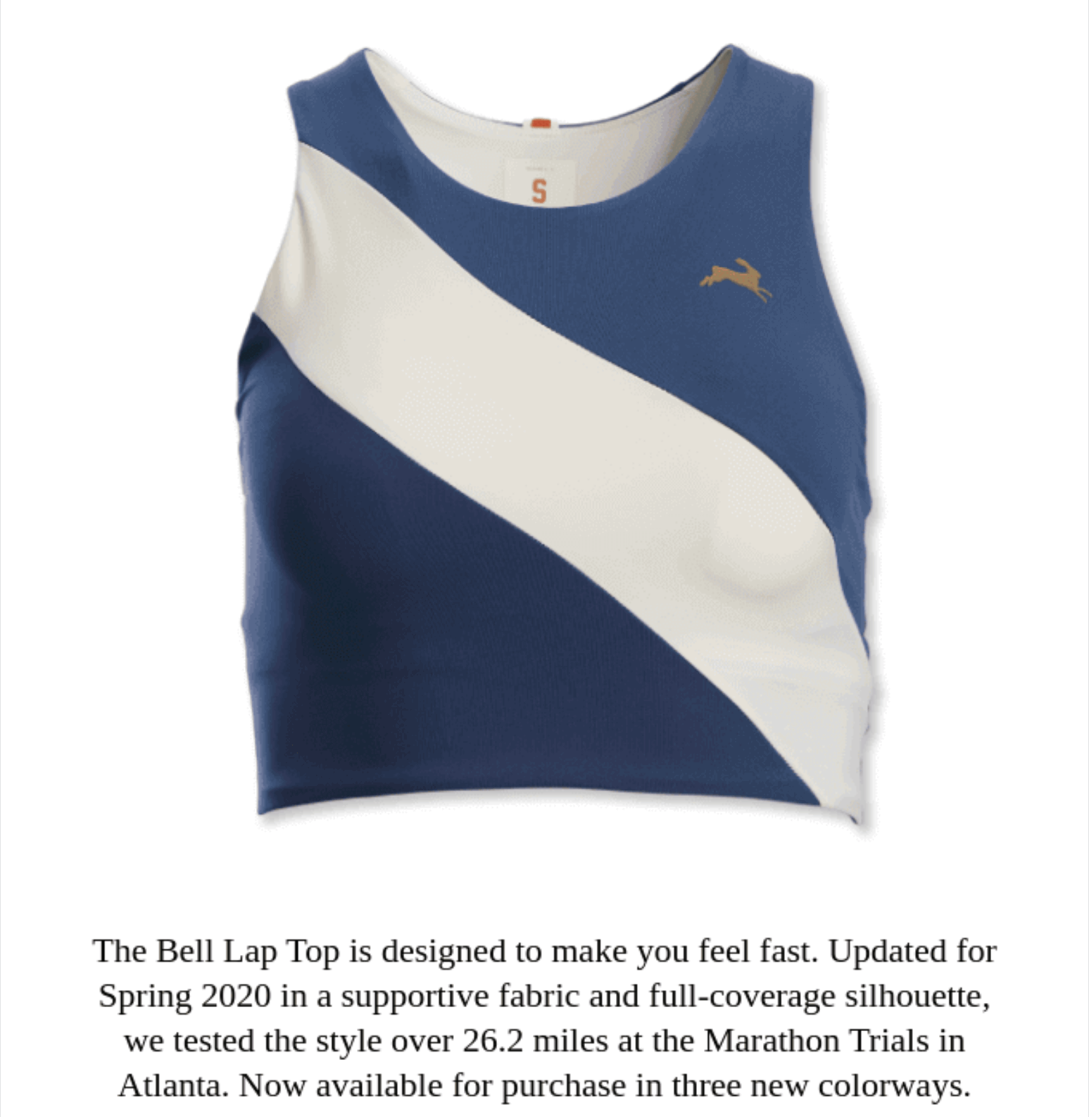 Example of a mobile friendly ecommerce email from Tracksmith