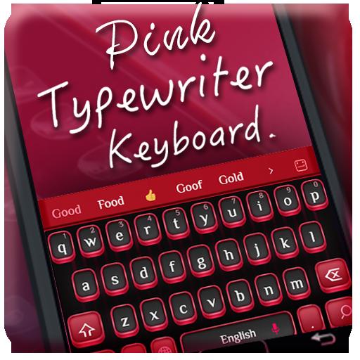 Pink typewriter keyboard