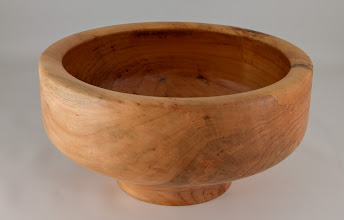 "Photo: Phil Brown 10 1/2"" x 5 1/4"" salad bowl [linden]"
