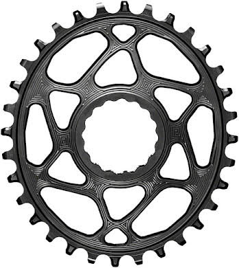 Absolute Black Oval Direct Mount Chainring - CINCH Direct Mount, 3mm Offset, Requires Hyperglide+ Chain alternate image 0