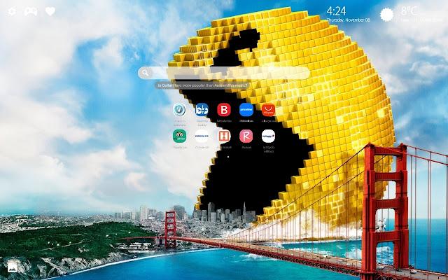 Pac Man Hd Wallpaper 4k Background New Tab