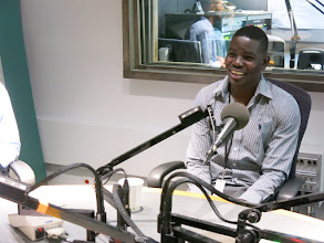 Photo: 2016 Gary Mason Learner Achievement Award Winner Hakim Ibrahim at the CBC Information Morning studio on June 21, 2016.