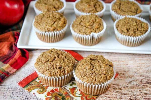 Applesauce Cinnamon Muffins Ready To Be Enjoyed.