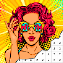 Pop Art Color By Number - Pixel Art icon