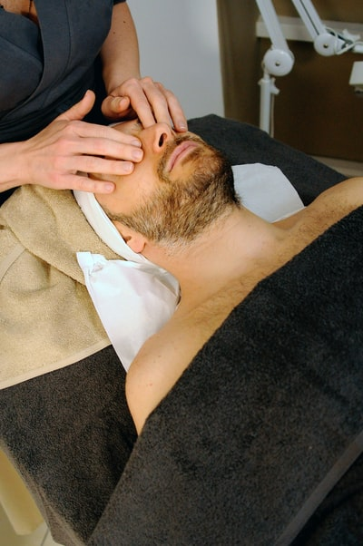 Applying Pressure during Facial massage