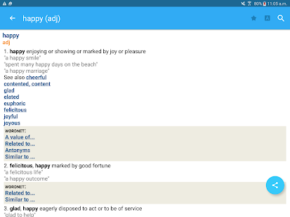 Advanced English Dictionary & Thesaurus- screenshot thumbnail