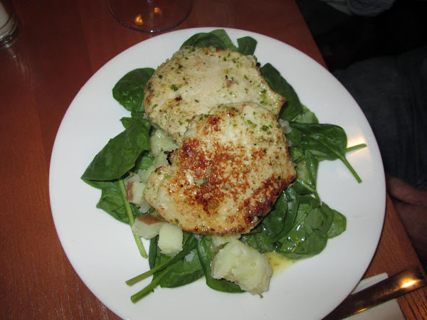 Lemon Butter Pork Chops With Potatoes And Spinach Recipe