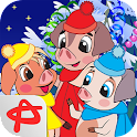 Three Little Pigs Christmas icon