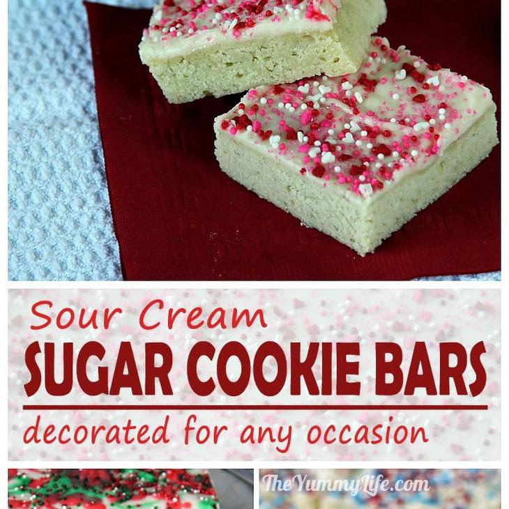 Sour Cream Sugar Cookie Bars Recipe