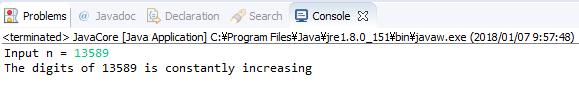 Java - Kiểm tra các chữ số của số nguyên dương n có tăng dần từ trái sang phải không