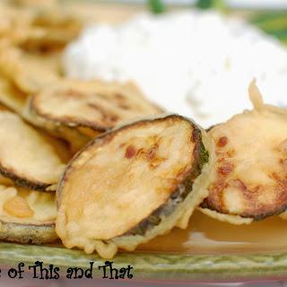 Zucchini Tempura with Tzatziki Sauce
